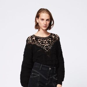 ISABEL MARANT Camden Crochet Knit Sweater Sz 36